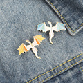 Cute Flying Dragon Dinosaur Brooch Enamel Pin Badge Pins Metal Brooches for Clothing Badges for Backpack New Year Gift 2021