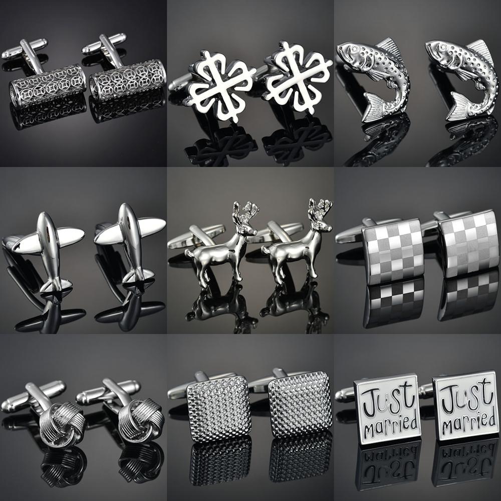 French shirt cufflink for mens Brand designer Cuffs link Button male Gold High Quality Luxury Wedding