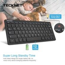 TeckNet الترا سليم 2.4GHz لوحة المفاتيح اللاسلكية الهمس هادئة المملكة المتحدة لوحة المفاتيح ل Windows10/8/7/فيستا المملكة المتحدة تخطيط تصميم لوحة المفاتيح