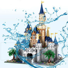 13132 8388Pcs Paradijs Prinses Cinderella Dream Castle Schepper Ucs Set Bouwstenen Bricks 71040 16008 Kids Kerstmis Speelgoed(China)