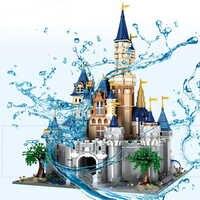 13132 8388Pcs Paradise Prinzessin Cinderella Traum Burg Creator UCS Set Bausteine Ziegel 71040 16008 Kinder Weihnachten Spielzeug