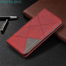 Capa magnética de couro com flip, para samsung note 10 s10 s9 j4 j6 plus a10s a20s a30s a50s a50 a20e a70 slot de cartão a40 a30, capa da carteira