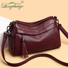 2019 High Quality Crossbody Bags for women2019 luxury tassel Handbag Lady leather Shoulder Bags Sac A Main Fashion Messenger Bag