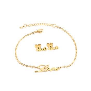 Love Heart Honey Earring Bracelet