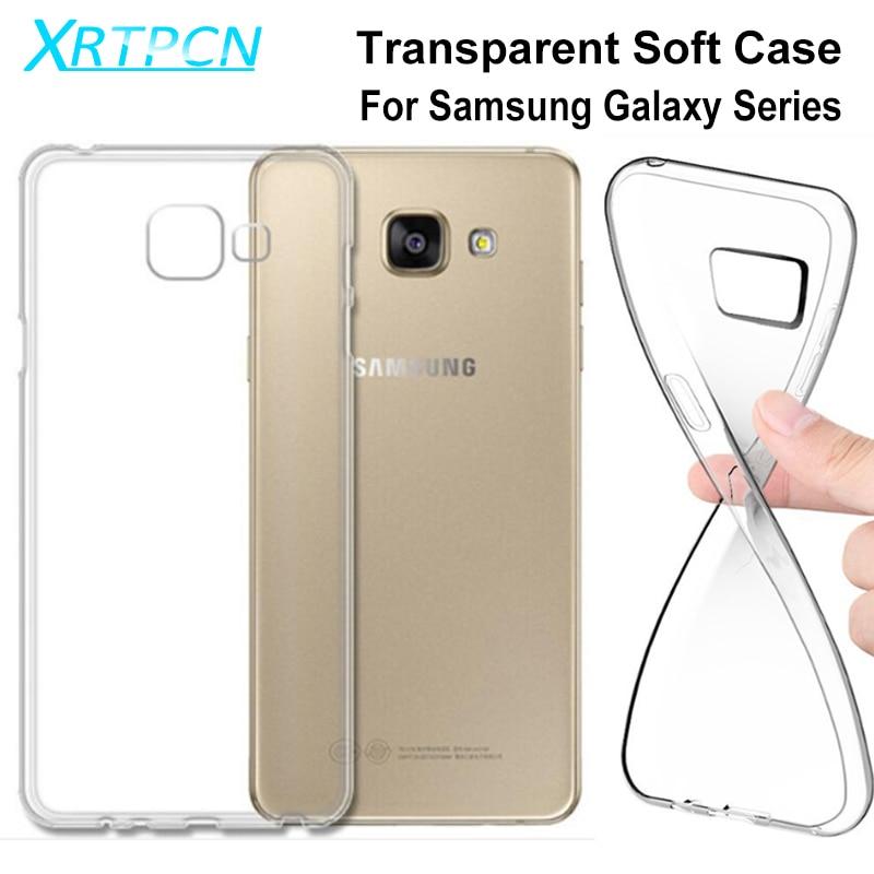 Прозрачный чехол для телефона Samsung Galaxy J5 J3 J7 A3 A5 A7 2016 2017 2018 J2 J4 Core A6 A8 Plus 2018, тонкий мягкий силиконовый чехол