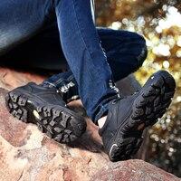 Retro ยุทธวิธีผู้ชายของแท้หนังกลางแจ้ง Trekking รองเท้าสบายๆผู้ชายรองเท้าผ้าใบ Mountain ผู้ชายเดินป่า