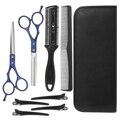 Набор профессиональных парикмахерских ножниц, комплект из 8 ножниц для стрижки волос, филировка, расческа, шпильки, набор для стрижки