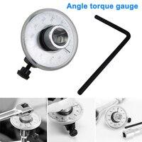 Medidor de ângulo torque 360 graus 1/2 Polegada medidor de acionamento automático ângulo rotação medida ferramenta com chave c44
