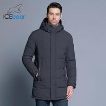 ICEbear 2019 Weichen Stoff Winter herren Jacke Verdickung Casual Baumwolle Jacken Winter Mid Lange Parka Männer Marke Kleidung 17MD962D