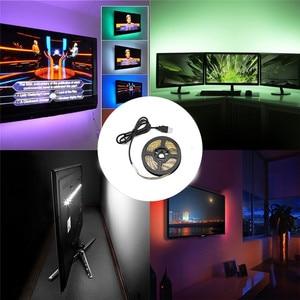 Светодиодная лента RGB SMD2835, гибкая лампа с инфракрасным управлением, 5 в постоянного тока, 1 м, 2 м, 3 м, 4 м, 5 м, с USB, Диодная ТВ-подсветка