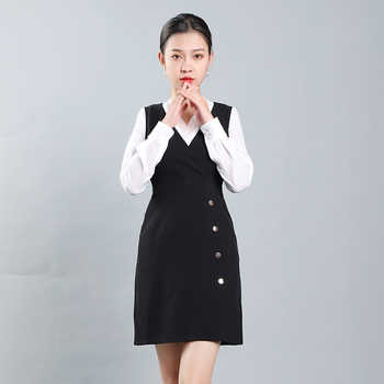 High-end professional suit Female hotel front desk work suit Fashion summer beauty salon work suit commuting two-piece set - DISCOUNT ITEM  15 OFF All Category