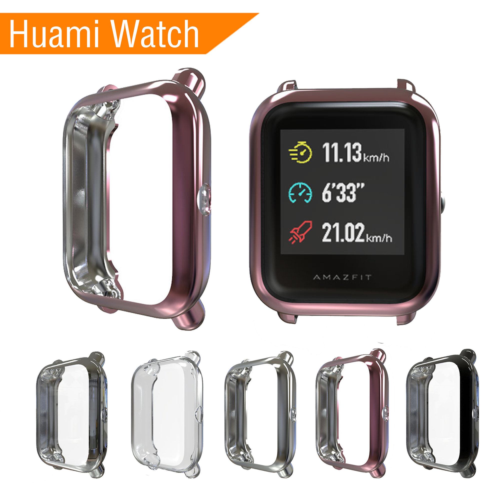 2019 Soft TPU Case For Huami Watch Cover Screen Protector Smart Accessories Sport Silicone