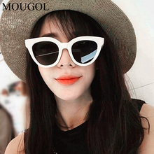 2019 new Korea ulzzang Harajuku style white frame female luxury sunglasses small face cat eyes ins with the same