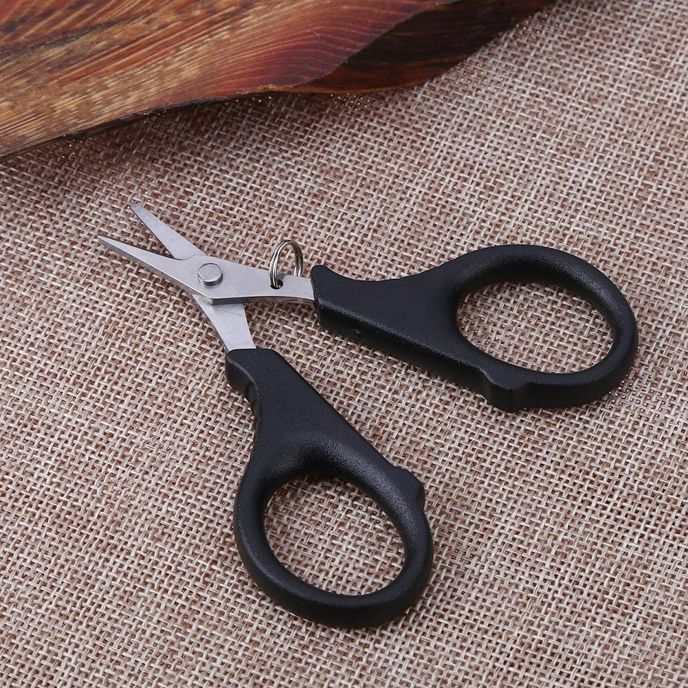 Camping Storage Case  Stainless Steel Braid Line Lure Cutter Fishing Scissors