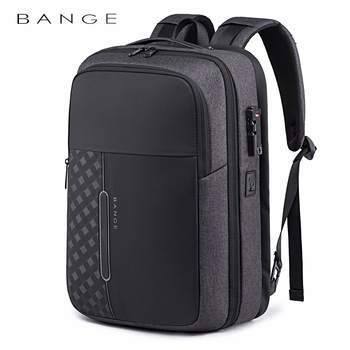 Bange Men Business Backpack Multifunction USB Charging 15.6 Inch Anti thief Laptop Bag Large Capacity Waterproof Travel Bags frn business usb charging bag men 17 inch laptop backpack waterproof high capacity mochila antitheft casual travel backpack bag