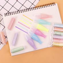 School-Supplies Marker-Pen Highlighter Fish Mini Stationery Painting Drawing Cute 6-Colors