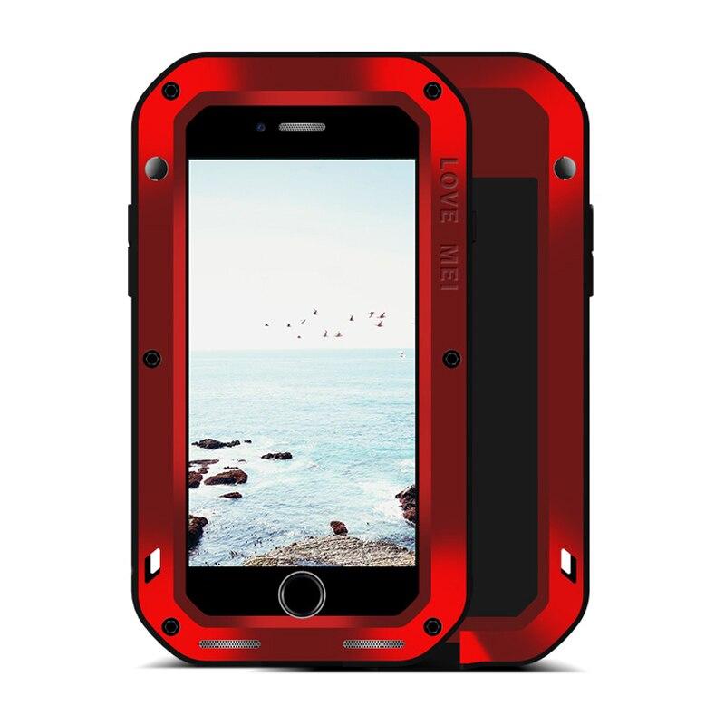 Amour Mei pour Apple iPhone 7 8 étui antichoc gorille verre écran complet corps robuste armure étui pour Apple iPhone 8 Plus étui