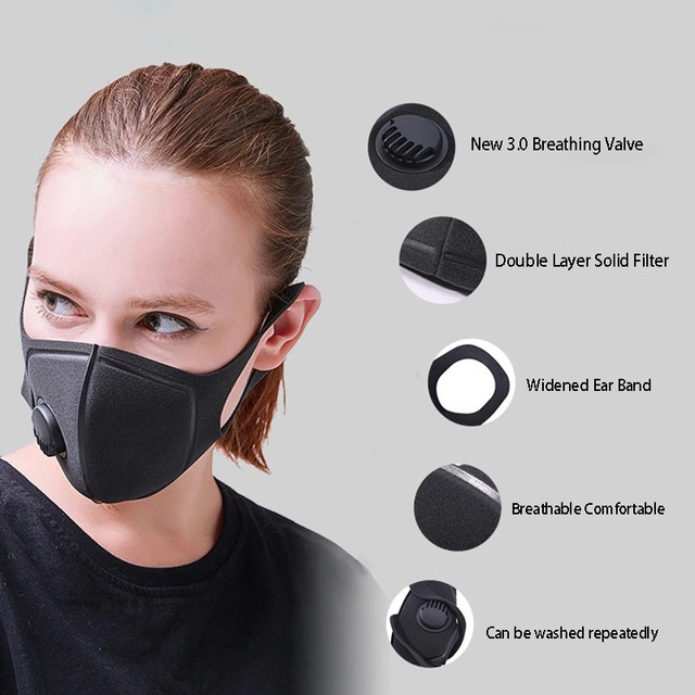 4/10/20/50pcs Dust Mask Filter Anti Air Pollution Mouth Face Mask with Anti Dust Cotton Adjustable Straps and a Washable Mask 4
