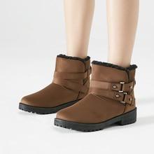 Women Boots Winter Snow High Quality Shoes Warm Ankle For  Velvet Black Cotton Woman