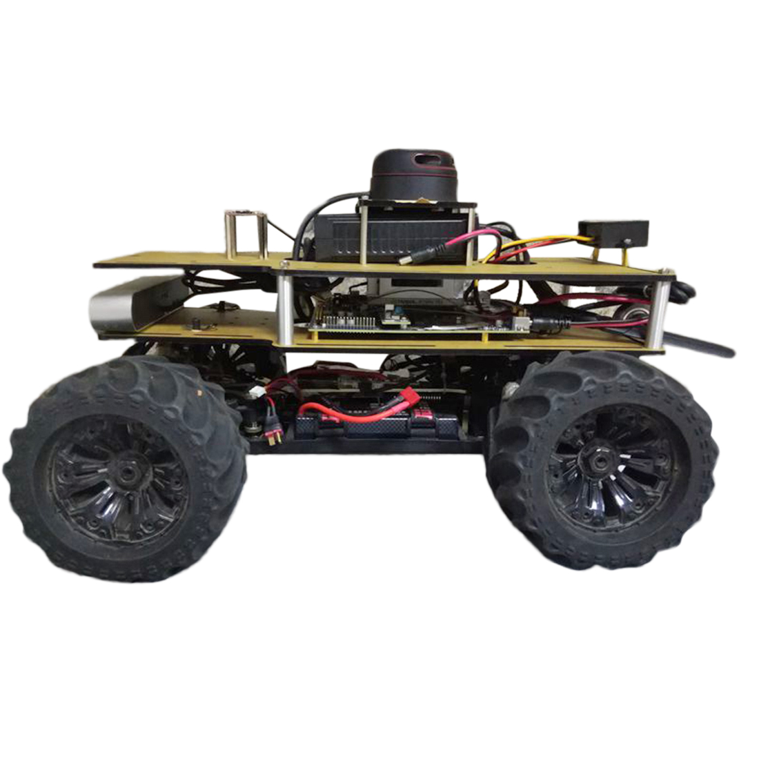 1/10 Programmable ROS Robot Ackerman Suspension Autopilot Ride Kit For Jetson TX2 - Outdoor Version