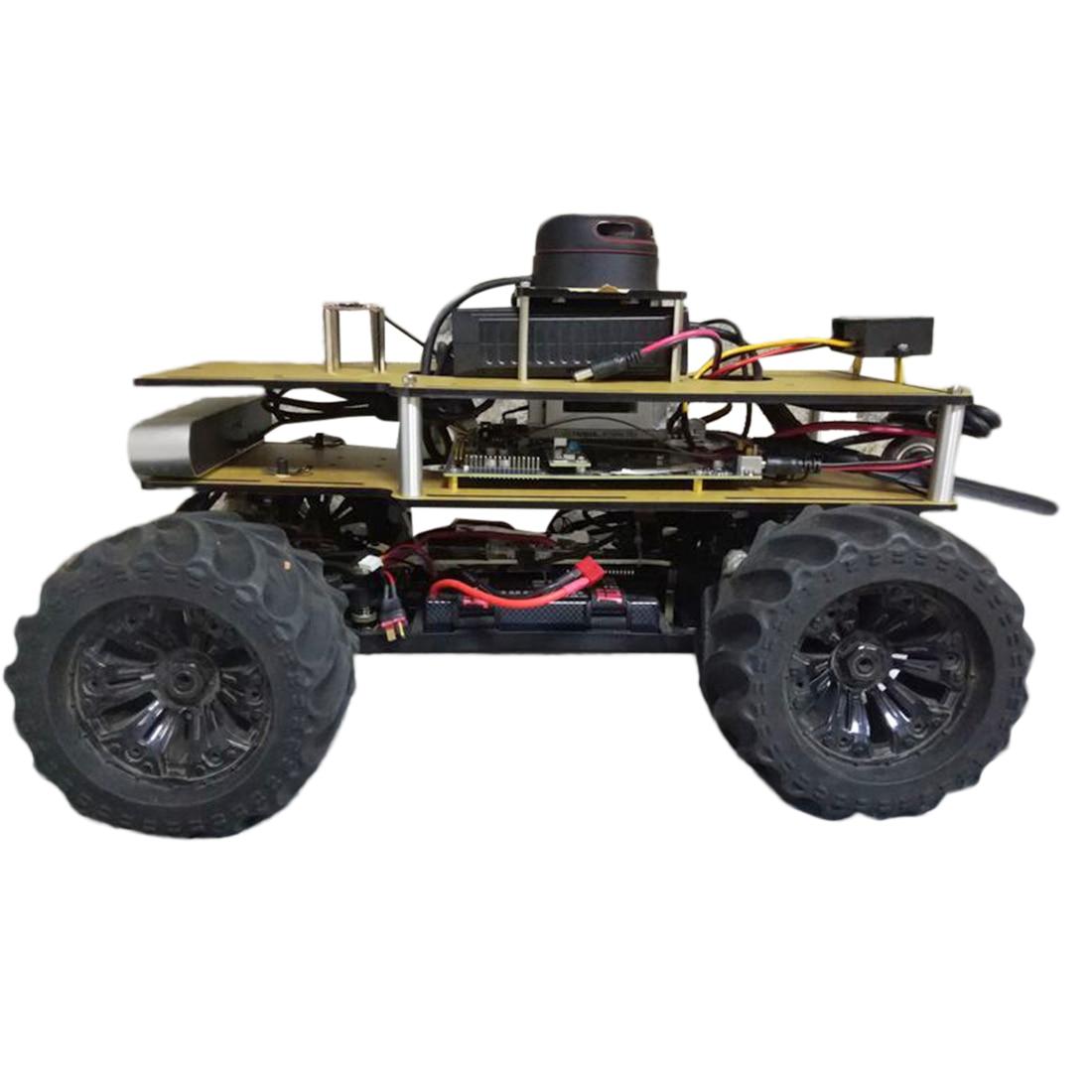 1/10 Programmable ROS Robot Ackerman Suspension Autopilot Ride Kit For Jetson TX2 - Outdoor Version