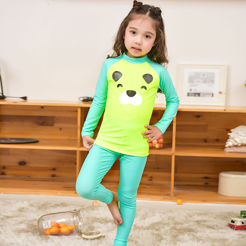 KID'S Swimwear GIRL'S Big Boy Quick-Drying Split Type Long Sleeve Trousers Baby Waterproof Mother Diving Suit