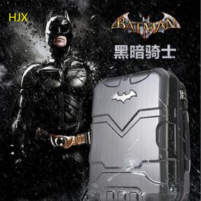 Perfect customization 20/24 inches Cartoon superhero PC Rolling Luggage Spinner brand High quality Travel Suitcase