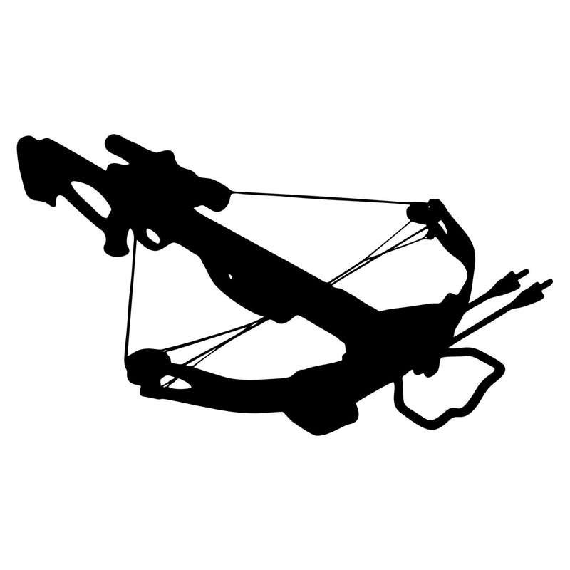 20*11.3CM Crossbow Deer Hunting Cartoon Car Sticker Vinyl Car Decals Decorative Accessories