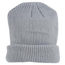 Winter Warm Knitted Skullcap Casual Short Thread Hip Hop Hat Adult Men Beanie Wool Skullies Cap Grey Elastic Hats