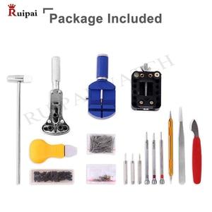 Image 2 - RUIPAI 147pcs Watch Repair tool Kit Watch Link Pin Remover Case Opener Spring Bar Remover Horlogemaker Gereedschap