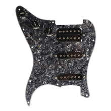 Electric Guitar Pickguard Pickups Loaded Prewired 11 Hole SSH Black Pearl 5pcs electric guitar pickguard for yamaha pacifica 112v replacement 3ply white pearl
