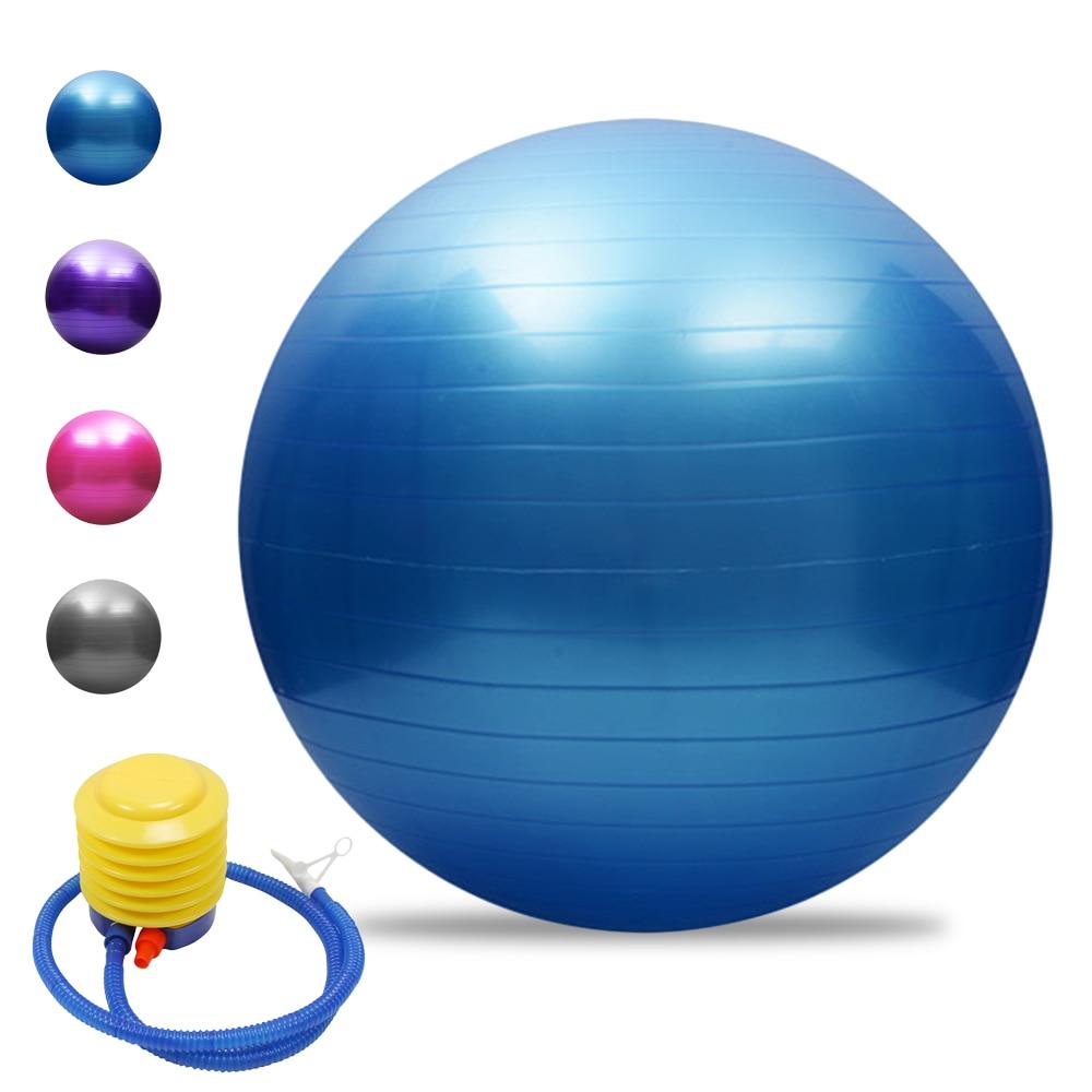 Мяч для йоги Lixada 45 см/55 см/65 см/75 см, устойчивый к разрыву, утолщенный мяч для баланса, Пилатес, Барр, мяч для физических упражнений