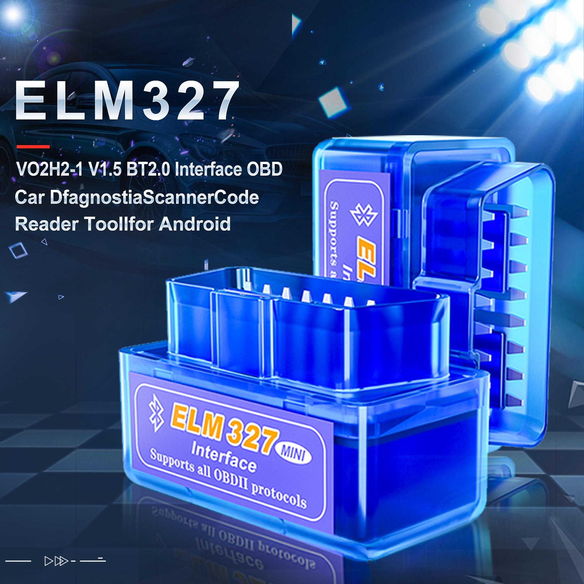Acessórios do carro elm327 v1.5 obd2 ferramenta de diagnóstico do carro elm 327 leitor código bluetooth scanner para android/symbian para obd2 protocolo para benz para bmw para renault para toyota ford para kia para vw