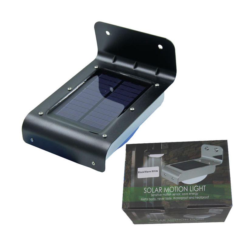 Solar LED Wall Lights Motion Sensor And Light Control In Outdoor Decoration Waterproof  IP65 200pcs