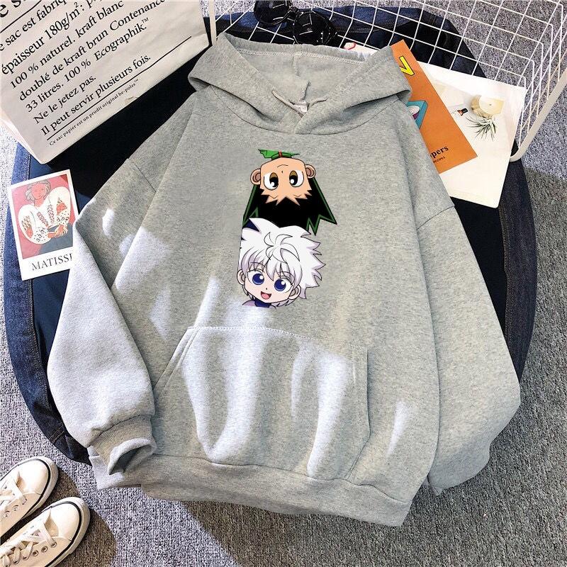Hot Japanese Anime Hunter x Hunter Hoodies Killua-GON FREECSS Printed Top Women Kawaii Clothes Graphic Casual Hooded Streetwear 8