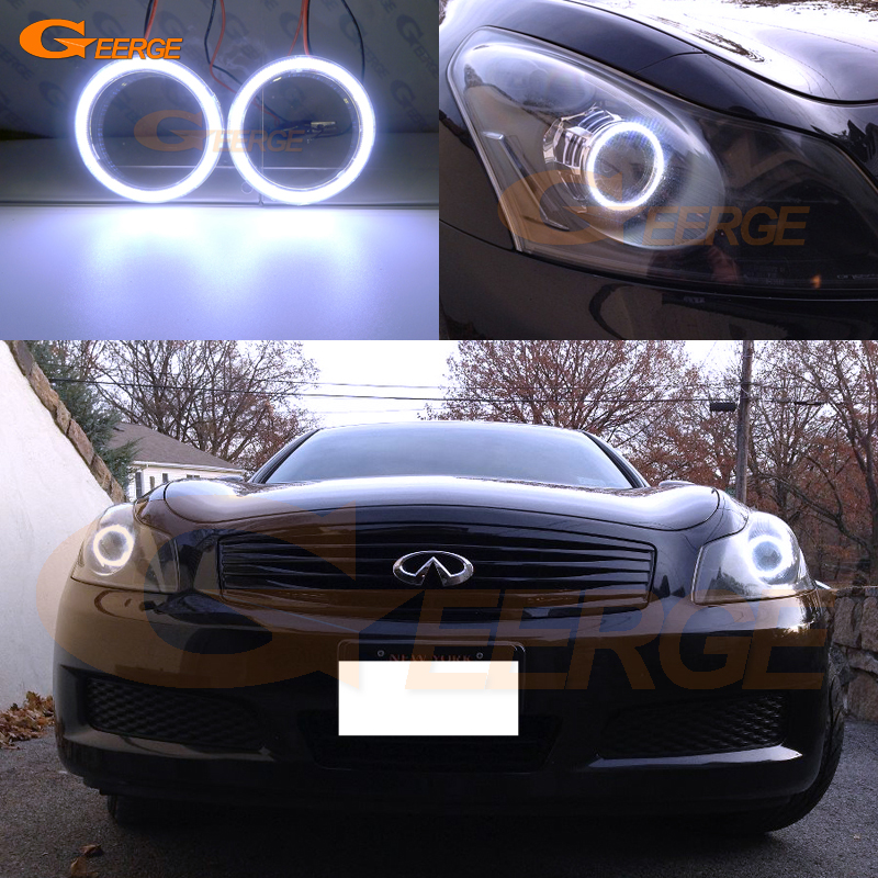 Excellent COB Led Angel Eyes Kit Halo Ring Ultra Bright Illumination For INFINITI G35 G37 2007 2008 2009 XENON HEADLIGHT