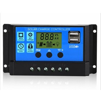60A/50A/40A/30A/20A/10A 12V 24V Auto Solar Charge Controller PWM Controllers LCD Dual USB 5V Output Solar Panel PV Regulator solar charge controller dual usb lcd auto solar cell panel charger regulator mppt 60a 30a 40a 50a 100a 12v 24v auto adapt