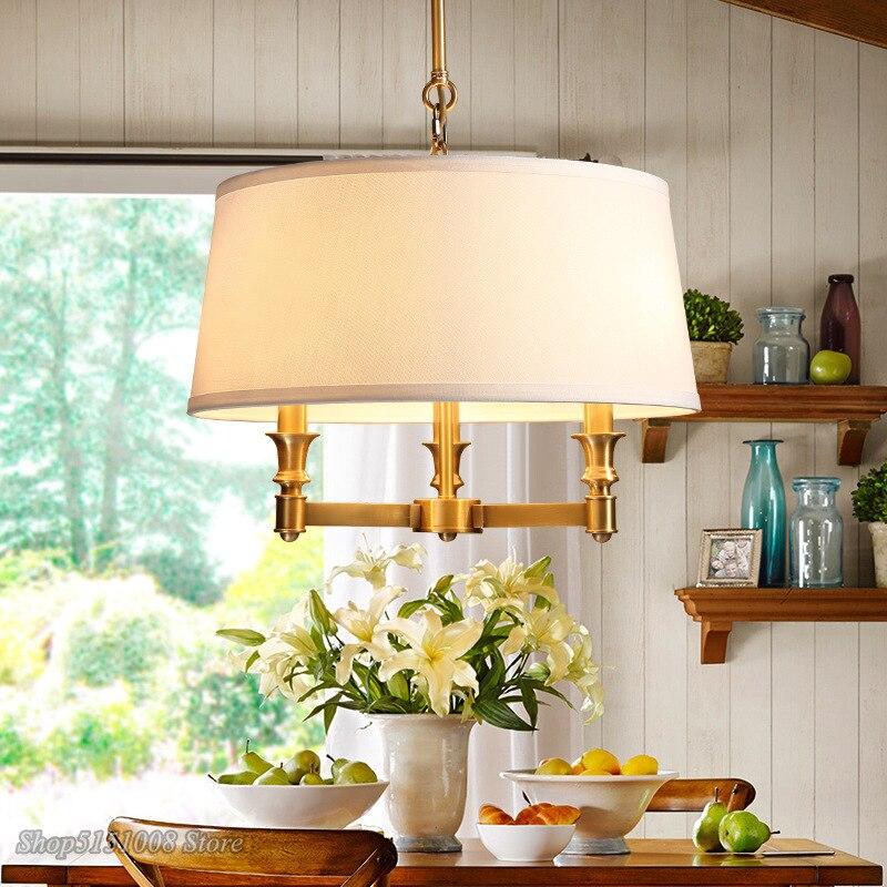 Nowoczesne lampy wiszące ameryka Art Deco miedziane lampy wiszące jadalnia salon zawieszka do sypialni lampy oświetlenie decor