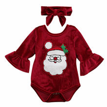 My 1st Christmas Infant Baby Girl Xmas Santa Romper Tutu Dress Outfit Clothes Christmas Baby Clothing стоимость