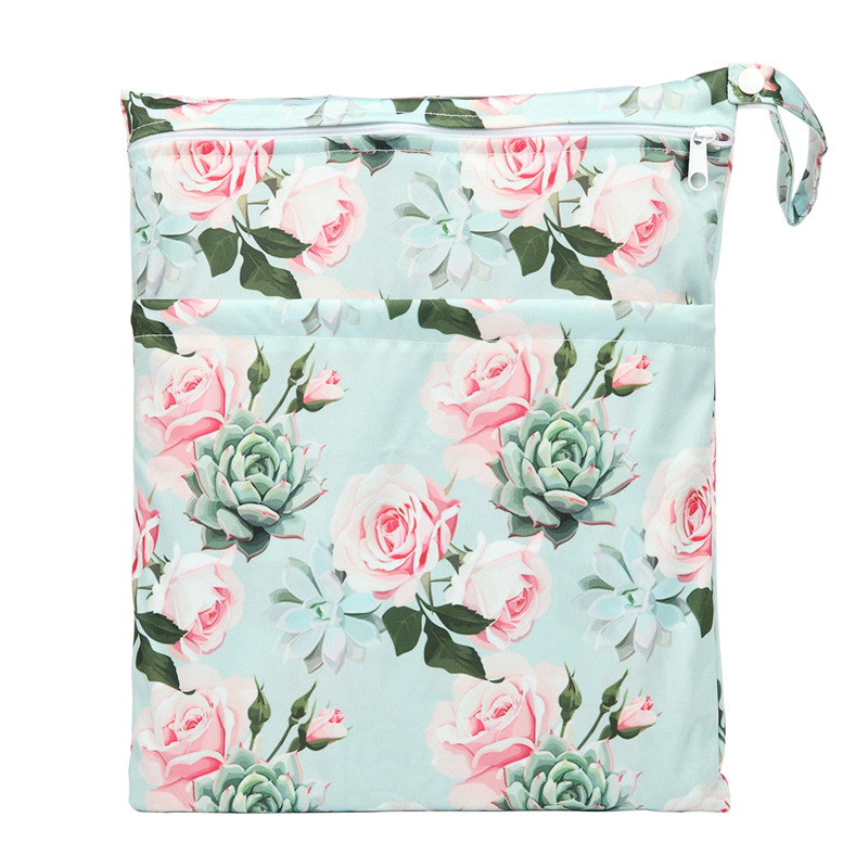 [Sigzagor] 1 Влажная сухая сумка с двумя молниями для детских подгузников, водонепроницаемая сумка для подгузников, розничная и, 36 см x 29 см, на выбор 1000 - Цвет: WH63
