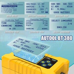Image 2 - NEW Original AUTOOL BT380 12V CCA2400 Car Battery Tester Battery Charger Tester Analyzer 220V 110V Vehicle Power Bank