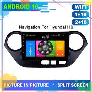 Car Radio Android 10 GPS Navigation For HYUNDAI I10 2013 Head Unit Stereo Multimedia Tape Recorder Player Internet Full Touch
