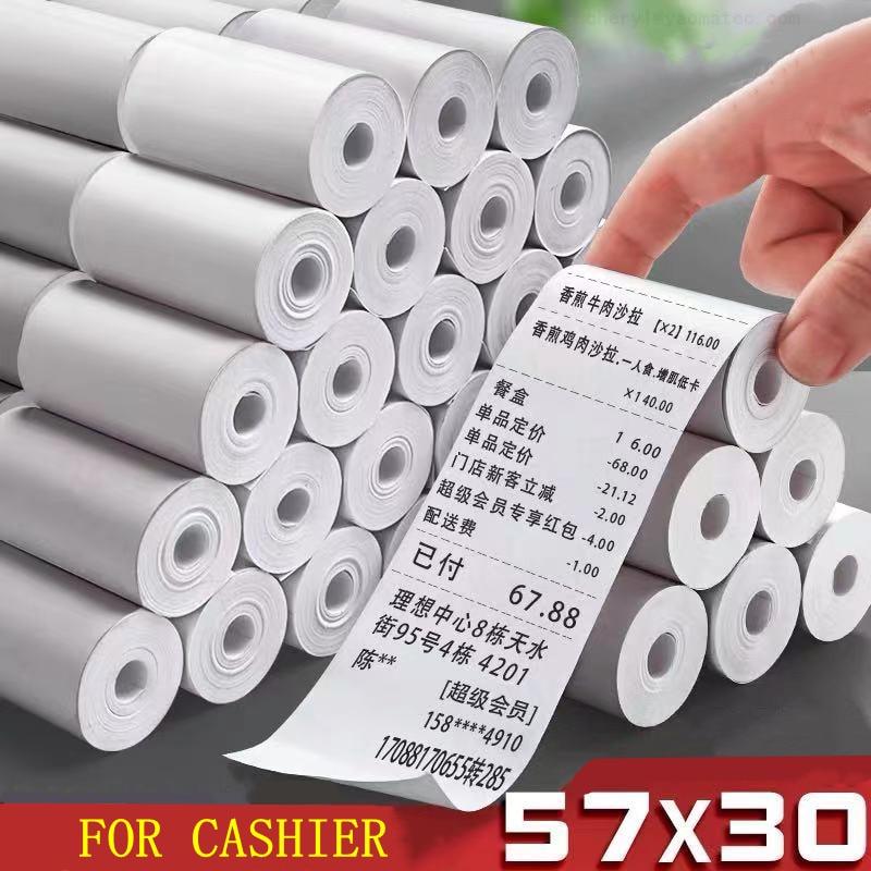 10/20/30/40/50 рулонов термобумаги, этикетки, фотобумага, фотобумага для портретной бумаги, мини-фотопринтер 57*30 мм