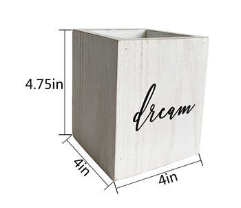 Office, private studio, solid wood, white pen holder can be used to place pencils, pens, rulers, scissors