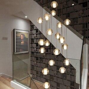 Image 3 - Youlaike Luxus Moderne Kronleuchter Beleuchtung Große Treppe FÜHRTE Kristall Leuchten Poliert Stahl Hängen Lustre Cristal
