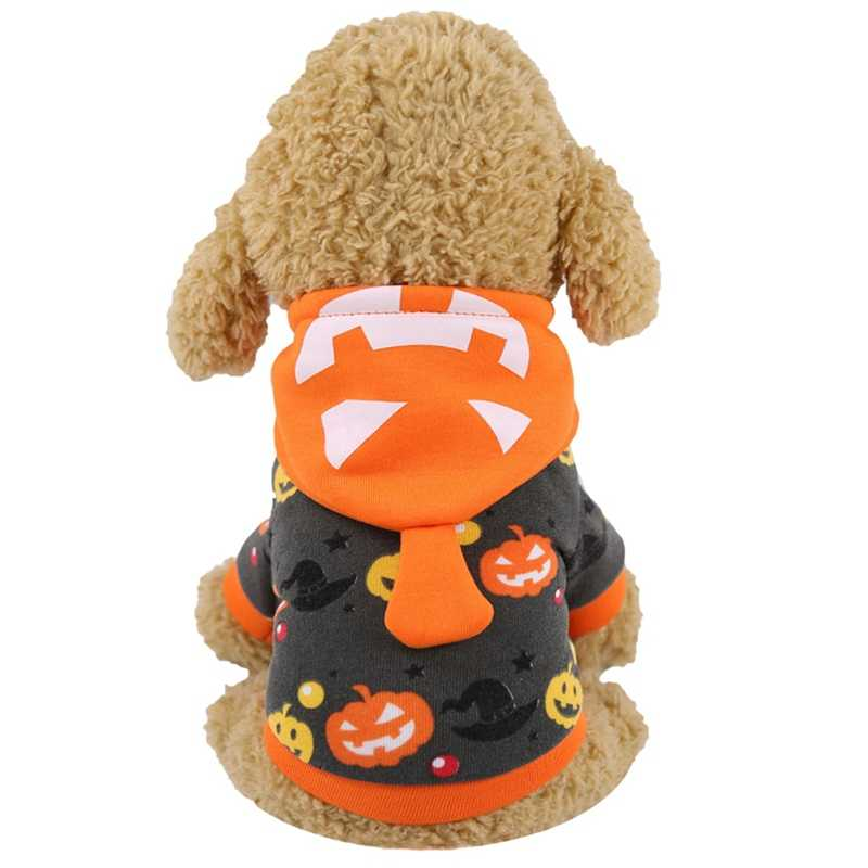 Halloween Pet Dog clothes Pumpkin Witch Printed Dog Coat Pets Sweatshirt Clothes Costume Apparel Pets Warm Clothing Chihuahua