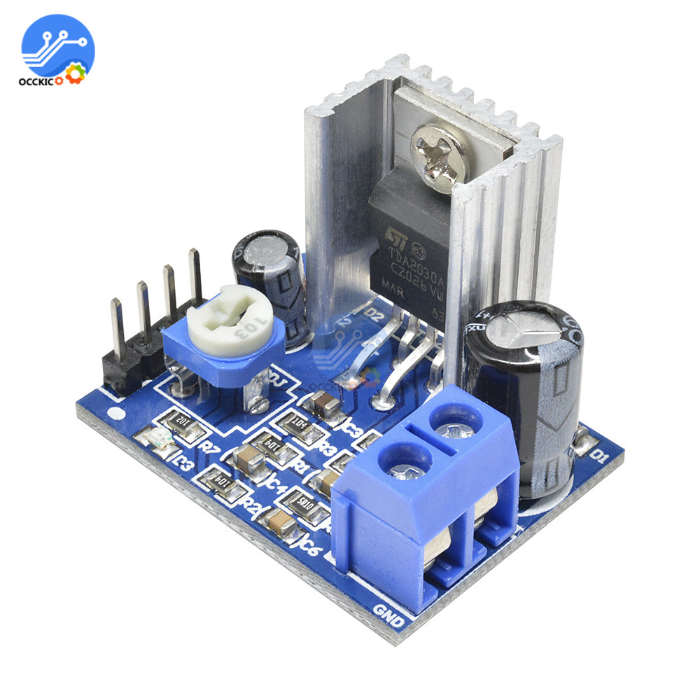 Amplifier Board TDA2030 Player Module Speaker Power Supply Audio Amplifiers Board 6-12V Mono Placa Amplificador Profesional