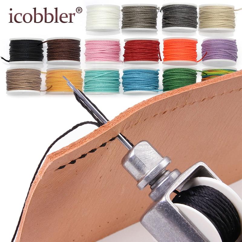 Ivan Leathercraft Lock Stitch Sewing Awl Thread Kit Needles Stitch Leather Fabric Cable Craft DIY