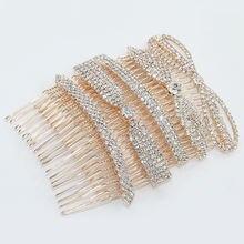 Модная расческа для волос с кристаллами женщин позолоченный