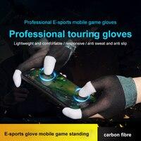 Guanti da gioco 2 pezzi per giochi PUBG premere Touch Screen sensibile al tocco gioco dito guanto manica accessori da gioco traspiranti